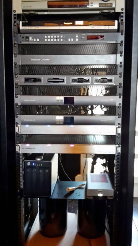 Twee 4k Edit's met lokale HD's met thungerbolt SSD docking.